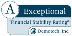 A Exceptional Financial Stability Rating® DemoTech, Inc. (Opens in a new Tab)